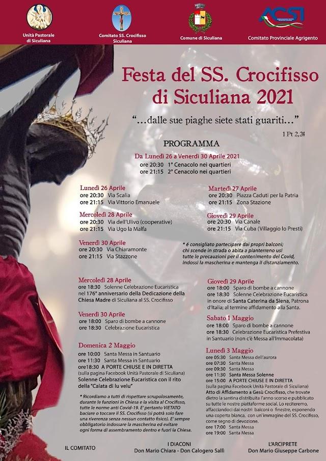 PROGRAMMA - FESTA DEL SS.CROCIFISSO DI SICULIANA 2021