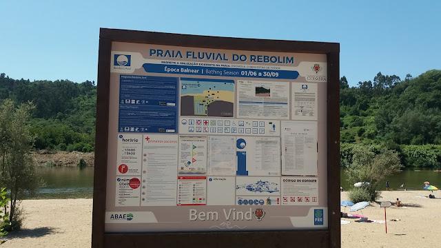 Placa Praia Fluvial do Rebolim