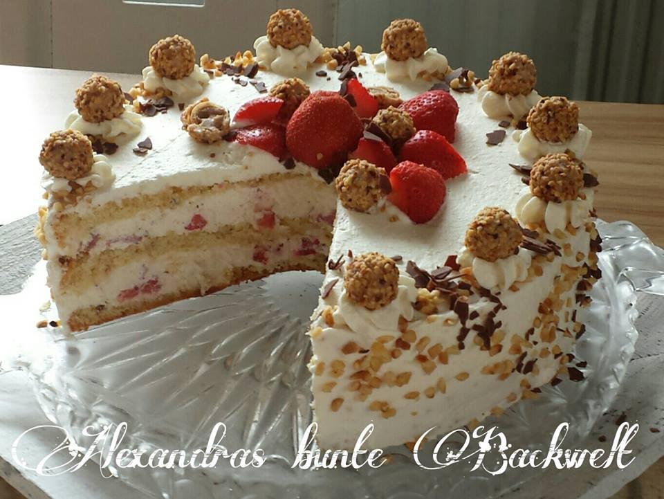 Erdbeer Giotto Sahne Torte
