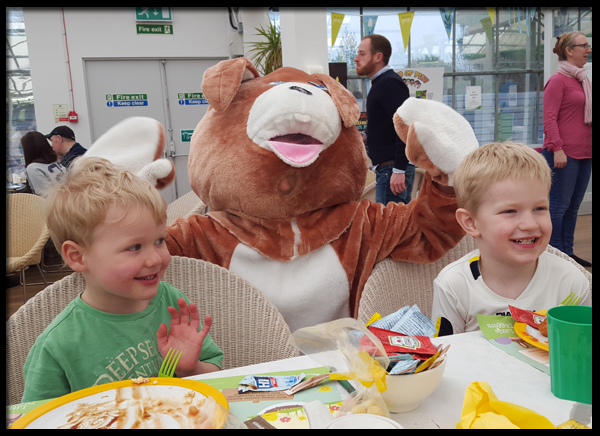 Visit from the Easter Bunny at Wyevale garden center Worthing