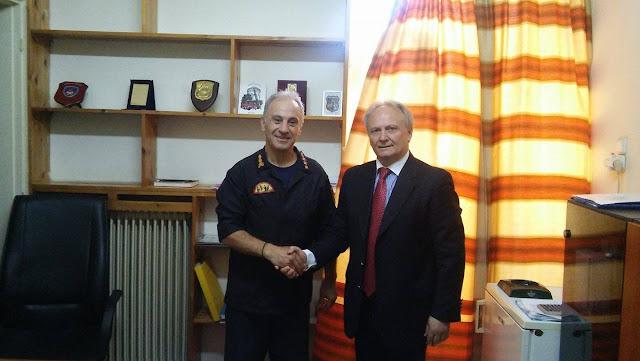 Ο Γ. Ανδριανός στις Πυροσβεστικές Υπηρεσίες Ναυπλίου και Άργους εν όψει της νέας αντιπυρικής περιόδου