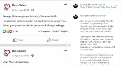 Hanny Kristianto Klarifikasi