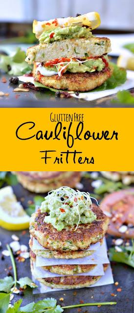 Gluten Free Cauliflower fritters  Recipe #Gluten-Free #Cauliflower