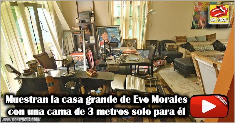Muestran la casa del pueblo de Evo Morales con una cama de 3 metros solo para él