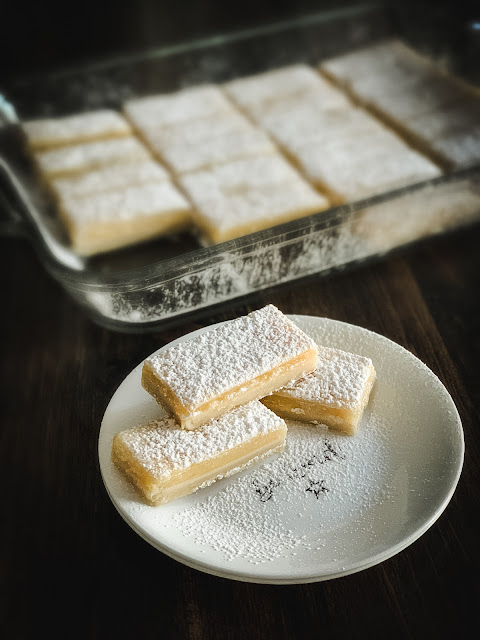 Old-Fashioned Lemon Bars by Cooking with K - WEEKEND POTLUCK 474