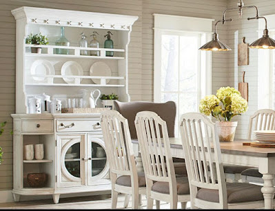 Exquisite white dining room hutch great for farmhouse dining room furniture