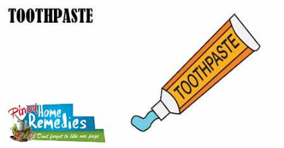 Home Remedies To Abbreviate Pimple Redness: Toothpaste