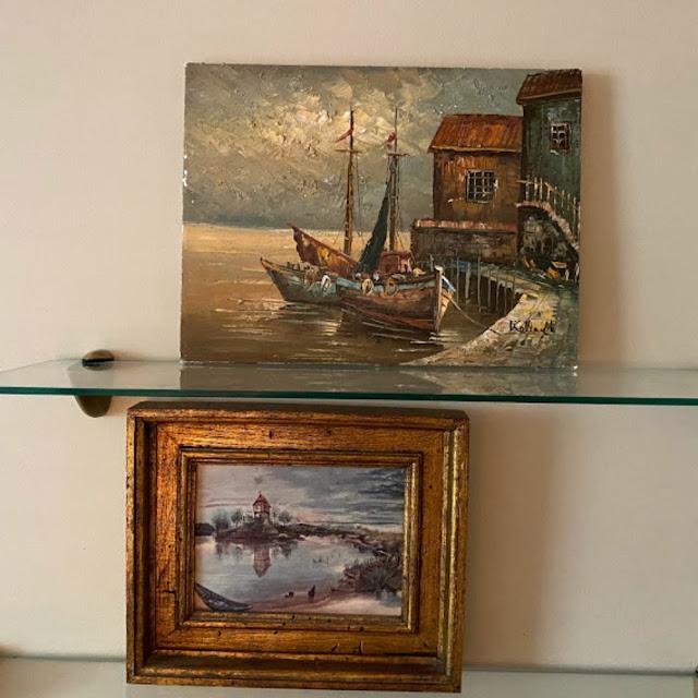 vintage harbor paintings
