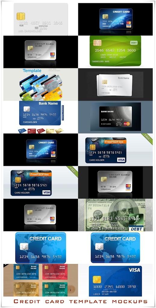 PSD шаблоны (mockup) кредитных карт