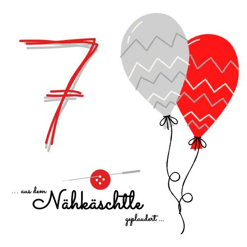 7. Blog- Geburtstag beim Nähkäschtle....