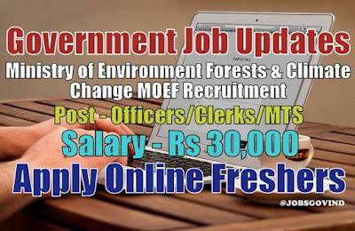 MOEF Recruitment 2020