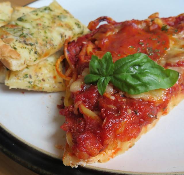 Spaghetti Pizza for Two