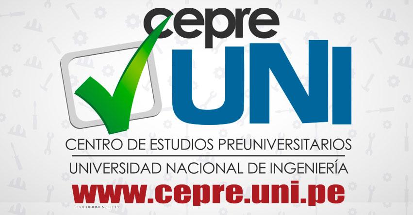Resultados CEPRE-UNI 2020-1 (Domingo 25 Agosto 2019) Lista de Aprobados - Prueba de Selección - Centro Preuniversitario - Universidad Nacional de Ingeniería - www.cepre.uni.pe | www.uni.edu.pe