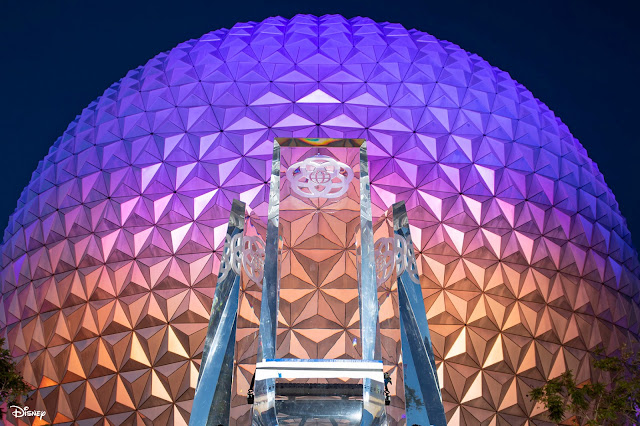 New Pylons Arrived to EPCOT Main Entrance Plaza August 2020, WDW, Disney Parks, Walt Disney World Resort