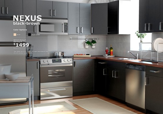 Home Something Nexus Brown Cabinets With Walnut Countertops From Ikea