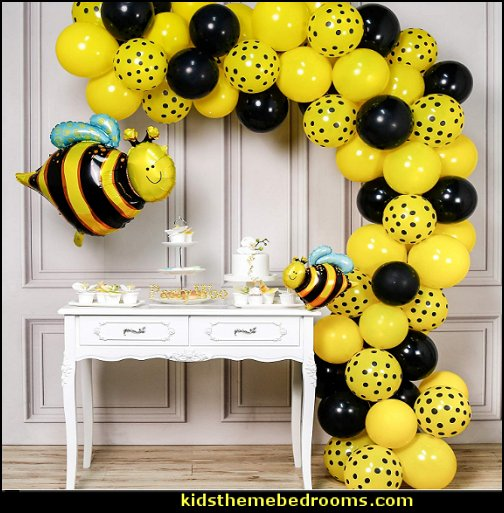 Bee Balloons Polka Dot Balloons Bee Decorations for Bee Party, Bee Baby Shower, Bee Birthday Party