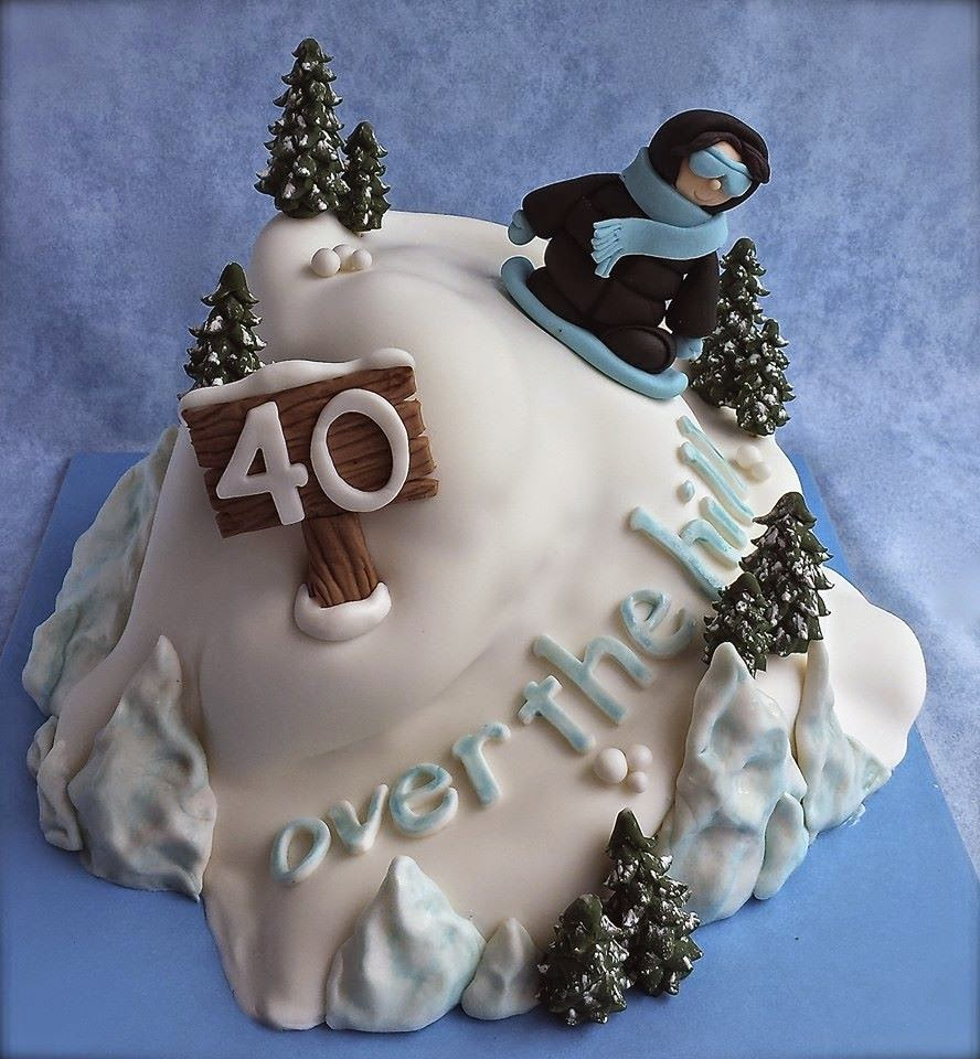 Snowboarding Cake Over-the-Hill
