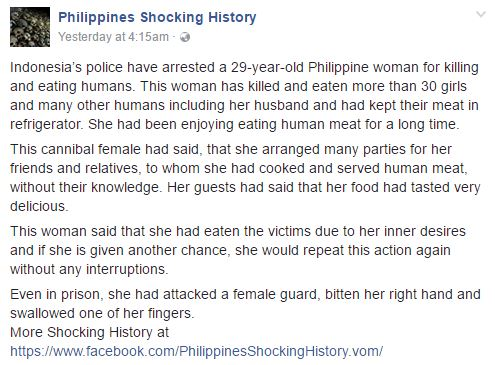 Police Officer in Indonesia Caught and Arrested this Cannibal! After She Eat Human Flesh! Shocking!