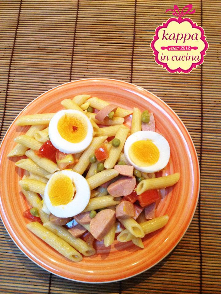 abbastanza Pasta fredda piselli, wurstel, uova e pomodoro - K in cucina MA15