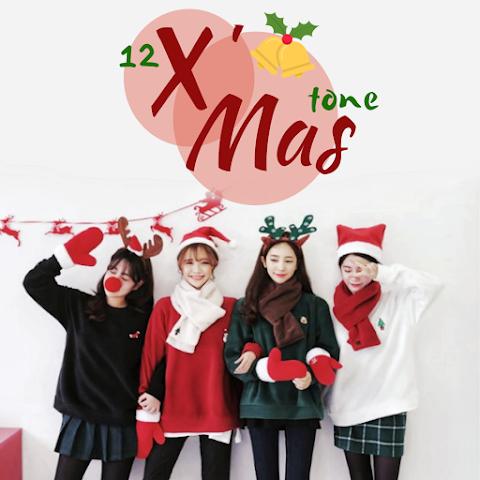 Christmas 12 Tone แต่งภาพคุมโทนต้อนรับคริสต์มาส 2019 | Snapseed QR