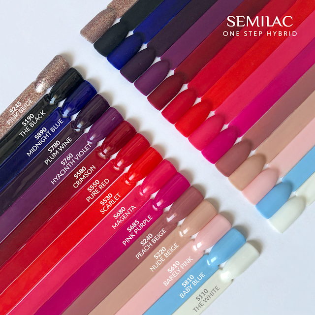 semilac one step hybrid swatche
