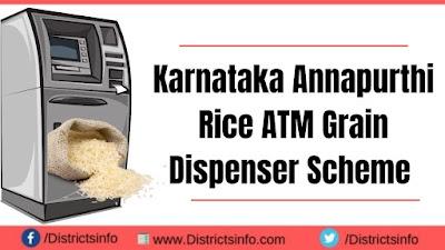 Karnataka Annapurthi Rice ATM Grain Dispenser Scheme