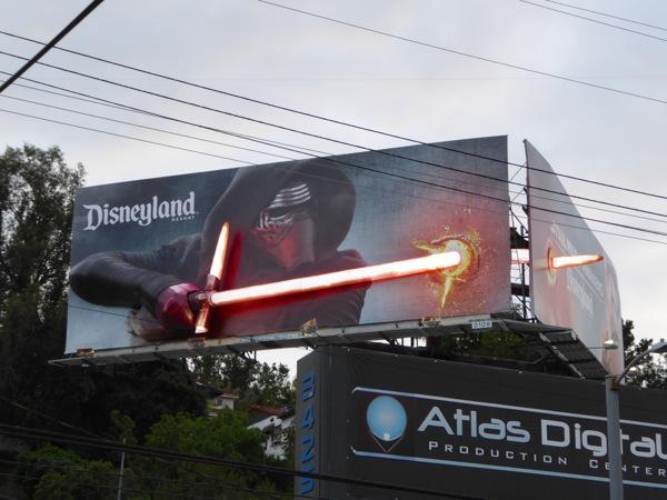 Disneyland Star Wars Awakens Kylo Ren 3D lightsaber billboard