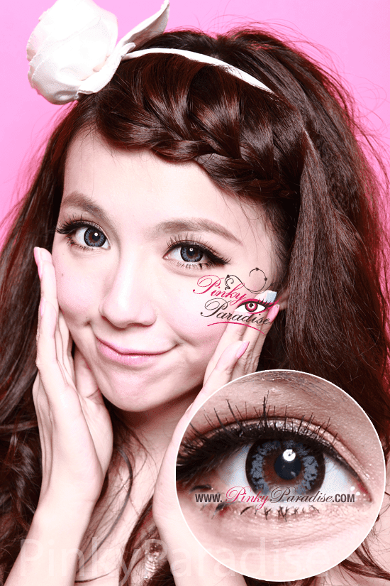 G&G Angel Ex Grey Circle Lenses (Colored Contacts) Model 1