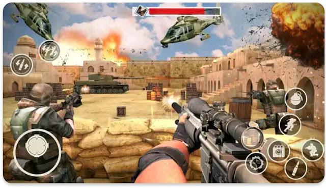 لعبة الرماية Spisial ops combat missions 2019 للأندرويد.