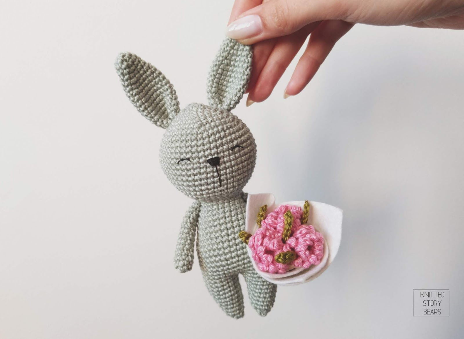 Little Crochet Bunny Free Pattern Knitted Story Bears