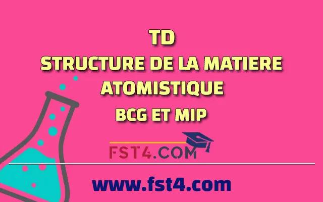 TD ATOMISTIQUE CORRIGE BCG MIP SVT pdf