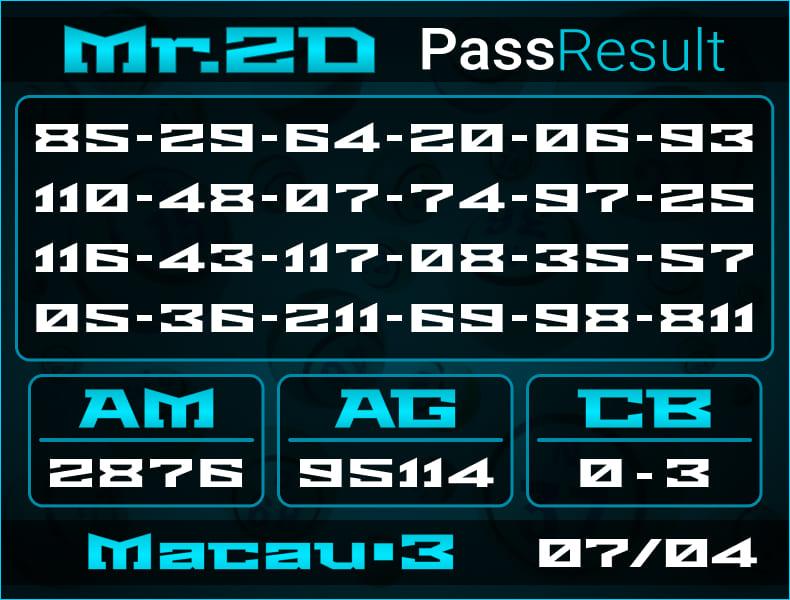 Mr.2D - Prediksi Togel Toto Macau P3