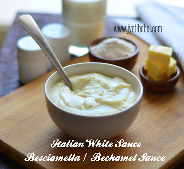 White sauce is one of the basic sauces used in Italian cuisine. Check this post to know how to make Italian White Sauce a.k.a bechamel sauce from scratch