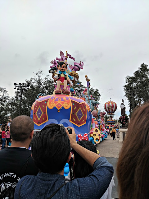 Celebrating my Birthday at the Magic Kingdom - Magic Kingdom Parade - Pinocchio