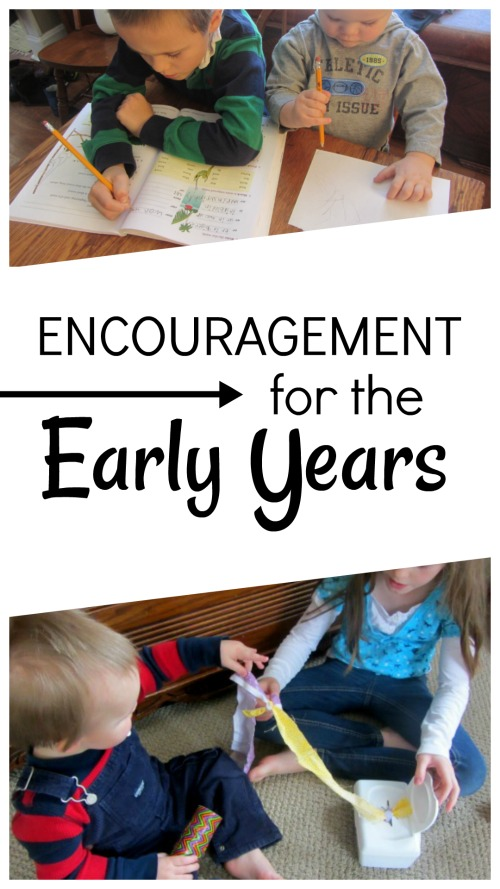 Homeschool mother of 4 offers encouragement for the early years #homeschool #homeeducation