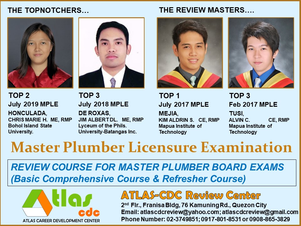 Schedule C 2020.Master Plumber Review Schedule For Feb 2020 Mple Atlas Cdc
