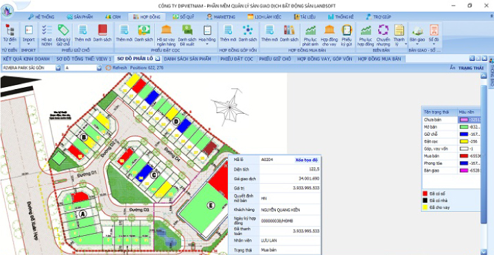Tập ĐoànLã Vọng áp dụng phần mềm landsoft