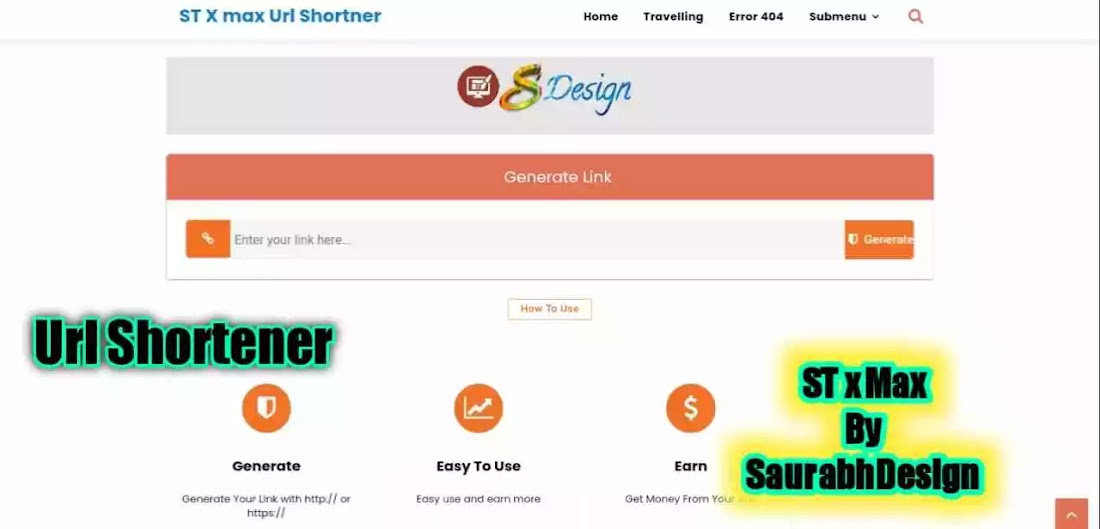 ST x Max - Premium Url Shortener Script For Blogger By SaurabhDesign