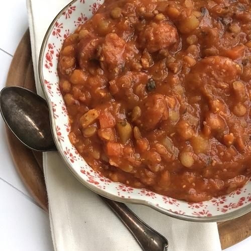 Linseneintopf mit Tomate à la Volker