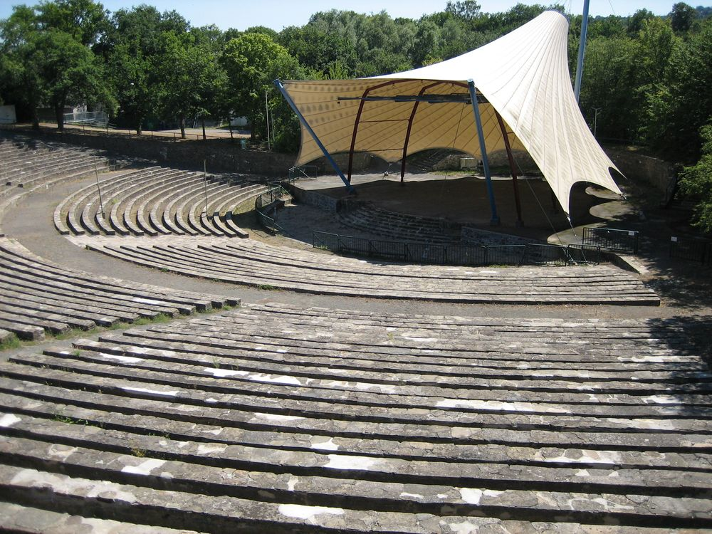 The open-air stage in Loreley