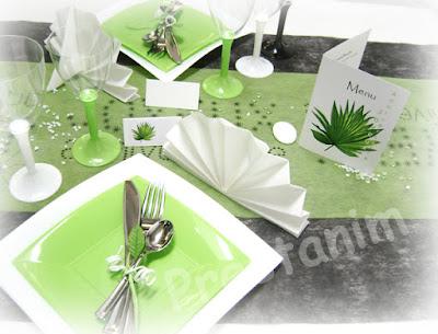 menu d coratif pour la table th me zen fleur champetre. Black Bedroom Furniture Sets. Home Design Ideas