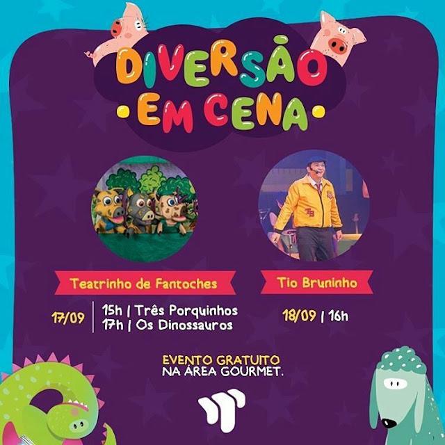Shopping Tacaruna eventos para criança