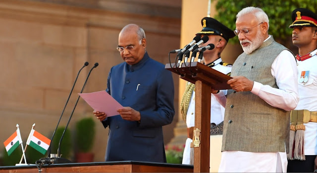 Narendra Modi takes oath as PM