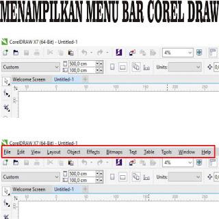 Cara menampilkan menu bar CorelDraw yang hilang | DODO GRAFIS