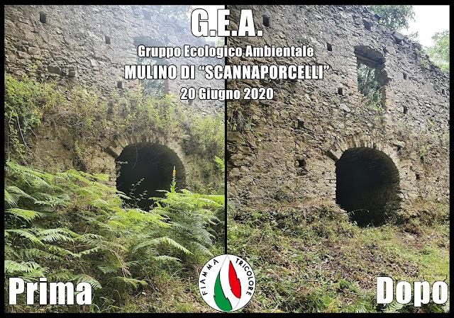 """SAN ROBERTO. I volontari Gea riqualificano il sito del mulino """"Scannaporcelli"""""""