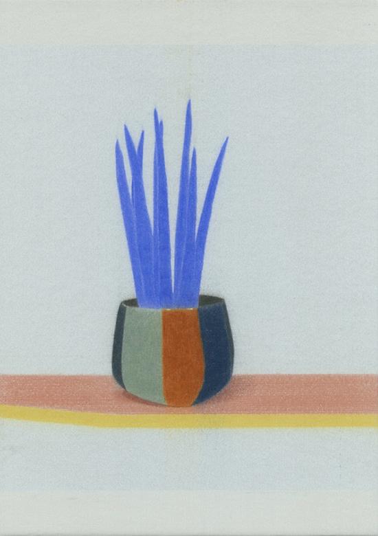 Johan de Wilde Pi-Fugue pour les survivants - 007, 2019 Colour pencil on archival cardboard 21 x 29.7 cm
