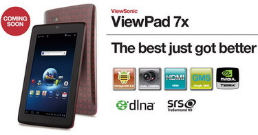 ViewSonic ViewPad 7x for Europe coming