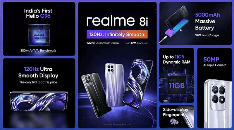 realme 8i features