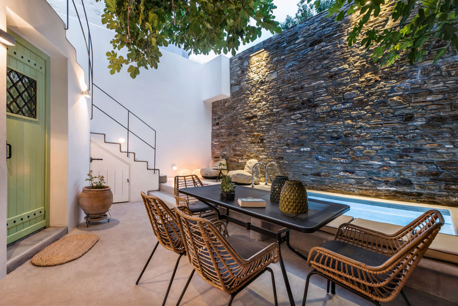 House With An Internal Courtyard On Andros Island Greece