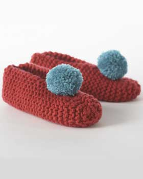 Knitting Pattern Central Men s Slippers : Miss Julias Patterns: Free Patterns - 50 Slippers & Socks to Knit &a...